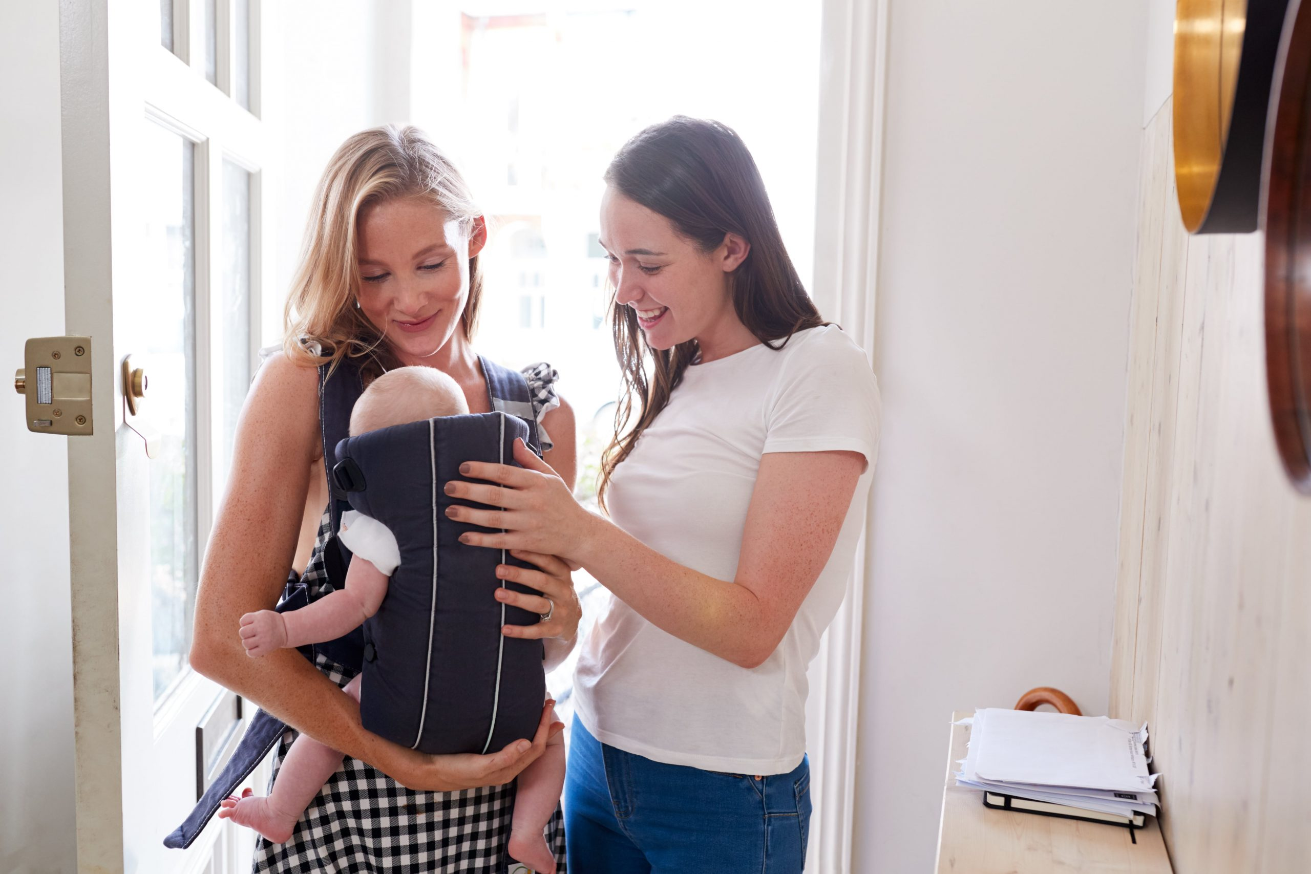 Same-sex female couple who used IUI and now have baby daughter